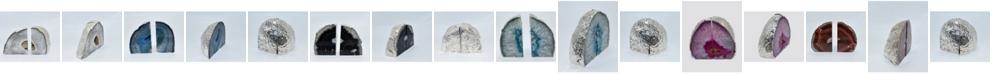 Nature's Decorations - Premium Silver-tone Trim Large Bookends