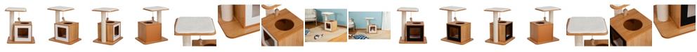 Elegant Home Fashions Hideaway Cat Condo and Perch