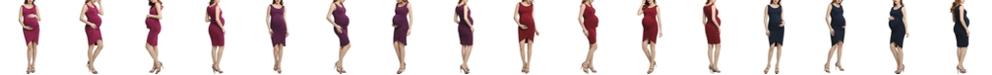 kimi + kai Stefanie Maternity Tulip Hem Midi Dress