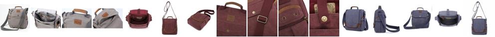 TSD BRAND Atona Traveler Canvas Crossbody Bag