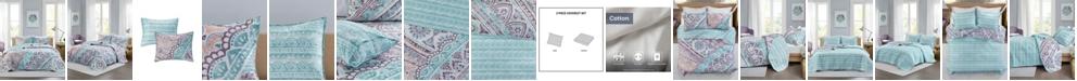 Intelligent Design Lidia 2-Piece Twin/Twin XL Reversible Coverlet Set