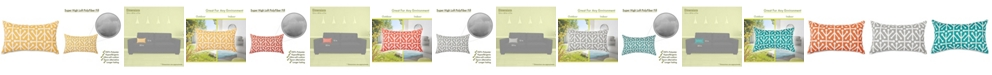 "Majestic Home Goods Aruba Decorative Soft Throw Pillow Small 20"" x 12"""