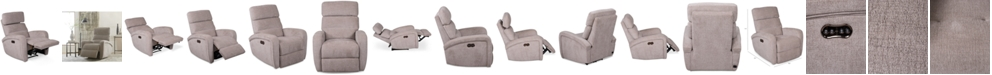 Furniture Stellarae Fabric Power Recliner With Power Headrest And USB Power Outlet, Created for Macy's