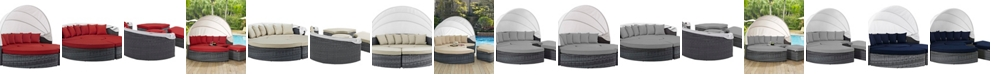 Modway Overmax- Summon Canopy Outdoor Patio Sunbrella® Daybed