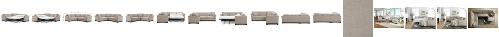 "Furniture Elliot II 108"" Fabric 2-Pc. Sleeper Sofa Sectional, Created for Macy's"