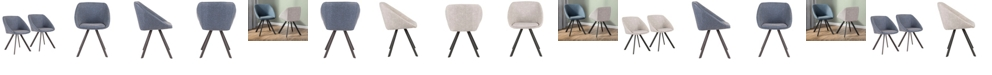 Lumisource Matisse Chair in Faux Leather Set of 2