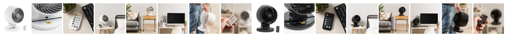 IRIS USA Woozoo C18T Remote Controlled Whole Room Oscillating Circulating Fan