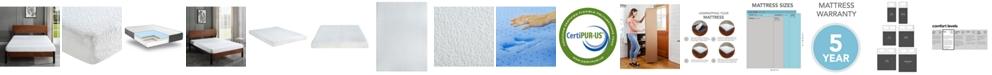 """Chic Couture Sleep Trends Ladan  6"""" Cool Gel Memory Foam Firm Mattress- Queen, Quick Ship, Mattress in a Box"""