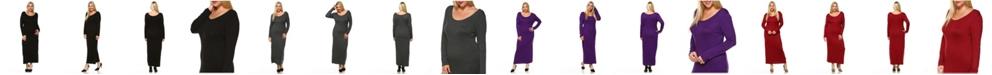 White Mark Women's Plus Size Ria Dress