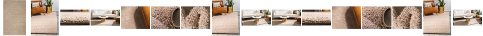 Bridgeport Home Salon Solid Shag Sss1 Taupe Area Rug Collection