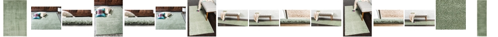 Bridgeport Home Salon Solid Shag Sss1 Sage Green Area Rug Collection