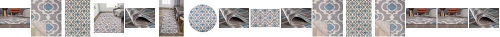 Main Street Rugs Home Alba Alb310 Blue/Gray Area Rug Collection