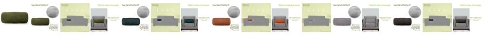 "Majestic Home Goods Villa Decorative Round Bolster Pillow 18.5"" x 8"""