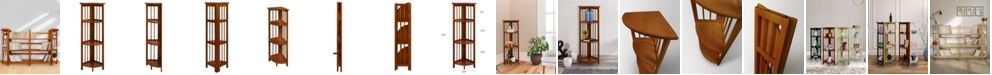 Yu Shan 4 - Shelf Corner Folding Bookcase