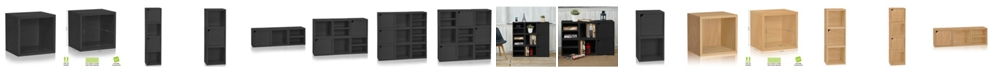 Way Basics Eco Stackable Connect Open Storage Cube and Cubby Organizer