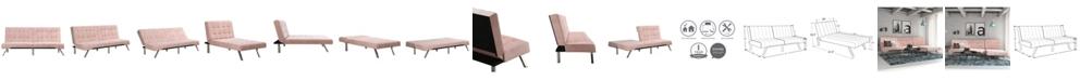 DHP Emily Sectional Futon Sofa