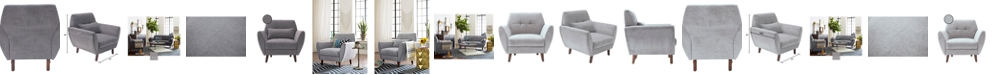 """Elle Decor Elle Décor 24"""" Mid-Century Modern Amelie Arm Chair"""
