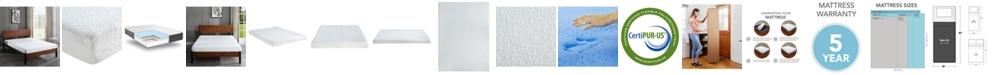 "Chic Couture Sleep Trends Ladan Twin XL 6"" Cool Gel Memory Foam Firm Tight Top Mattress"