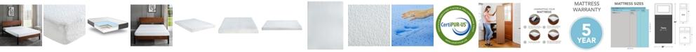 "Sleep Trends Ladan Twin 6"" Cool Gel Memory Foam Firm Tight Top Mattress"