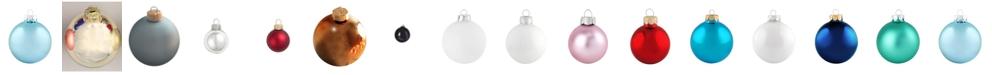 "Whitehurst 4"" Glass Christmas Ornaments - Box of 6"