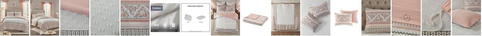 Madison Park CLOSEOUT! Moria Full/Queen 3-Pc. Cotton Printed Clip Jacquard Duvet Cover Set