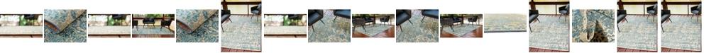 Bridgeport Home Pashio Pas6 Blue Area Rug Collection