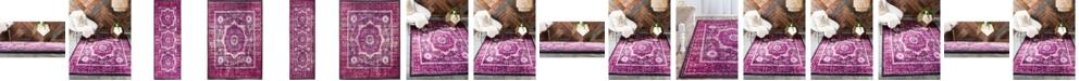 Bridgeport Home Linport Lin7 Fuchsia Area Rug Collection