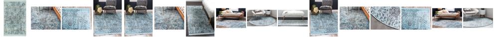Bridgeport Home Kenna Ken2 Turquoise Area Rug Collection