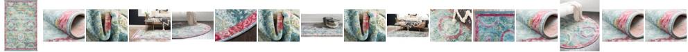 Bridgeport Home Kenna Ken4 Turquoise Area Rug Collection