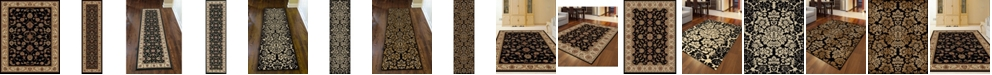 KM Home CLOSEOUT! Pesaro Black Area Rug Collection