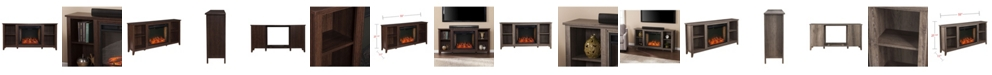 Southern Enterprises Bellingham Alexa-Enabled Fireplace with Storage