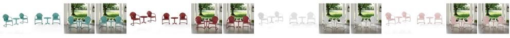 Crosley Tulip 3 Piece Metal Conversation Seating Set