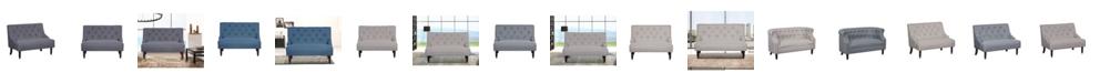Us Pride Furniture Nixa Tufted Linen Upholstered Loveseat