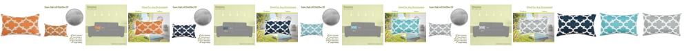 "Majestic Home Goods Trellis Decorative Soft Throw Pillow Small 20"" x 12"""