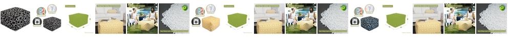 "Majestic Home Goods Fusion Ottoman Square Pouf 27"" x 17"""