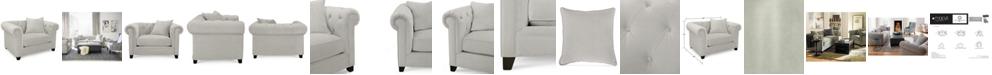"Martha Stewart Collection Saybridge 52"" Fabric Armchair, Created for Macy's"