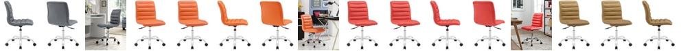 Modway Ripple Armless Mid Back Vinyl Office Chair