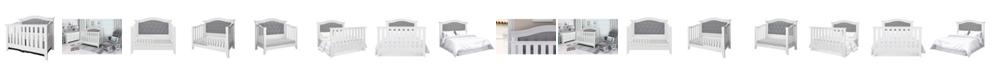 Belle Isle Furniture Magnolia 4-in-1 Convertible Upholstered Crib- White,Dark Gray