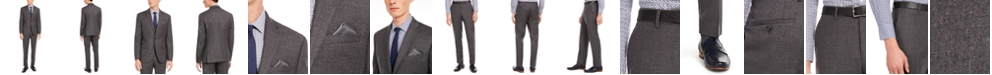 Bar III Men's Slim-Fit Gray Flannel Suit Separates, Created for Macy's