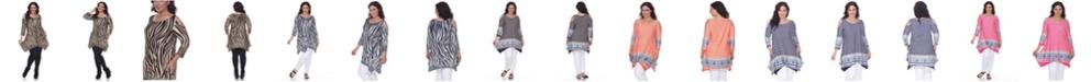 White Mark Plus Size Antonia Cut-Out Shoulder Tunic