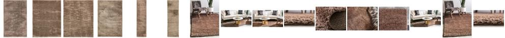 Bridgeport Home Salon Solid Shag Sss1 Brown Area Rug Collection