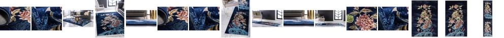 Bridgeport Home Sahil Sah9 Navy Blue Area Rug Collection