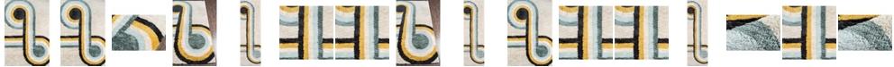 Novogratz Collection Novogratz Retro Ret-3 Blue Area Rug Collection