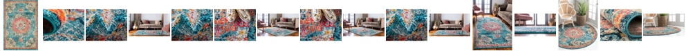Bridgeport Home Lorem Lor1 Turquoise Area Rug Collection