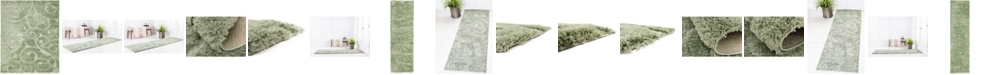 Bridgeport Home Malloway Shag Mal1 Green Area Rug Collection