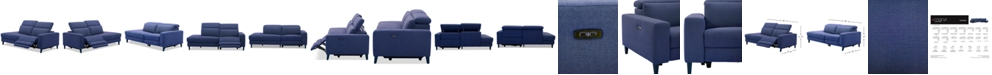 Furniture Sleannah 2-Pc. Fabric Bumper Sectional with Power Recliner