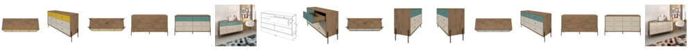 """Manhattan Comfort Joy 59"""" Wide Double Dresser with 6 Full Extension Drawers"""