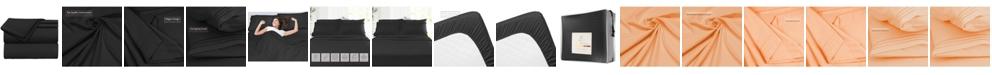 CLARA CLARK Premier 1800 Series 4 Piece Deep Pocket Bed Sheet Set, Queen