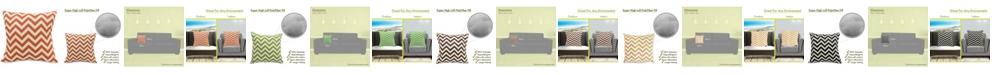 "Majestic Home Goods Chevron Decorative Soft Throw Pillow Large 20"" x 20"""