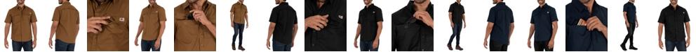 Wells Lamont Men's Short Sleeve Ventilated Back Flex Performance Ripstop Work Shirt
